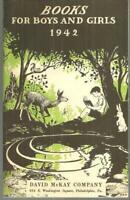Books for Boys and Girls 1942 Catalog for David McKay Publishing Philadelphia