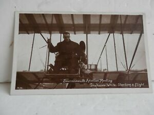 Vintage Aviation Postcard. Very Early Card. Graham White.Bournemouth Aviation.