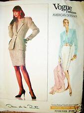 Ms Vogue 2159 Pattern UNCUT Oscar de la Renta Jacket Skirt Blouse Size 12-14-16