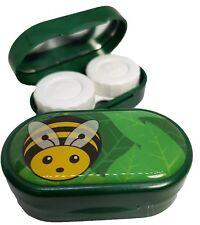 Caso de Espejo Lindos Animales-Lentes De Contacto remojo Estuche Reino Unido hizo-Bee