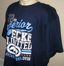 NEW 4XB ECKO UNLTD MENS T SHIRT Tee Dark Navy Blue Short Sleeve 4XL 4X