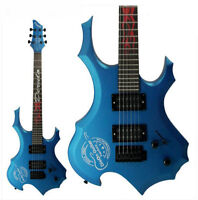 Blue New High-Grade Basswood 24 Frets Single Wave Electric Guitar #