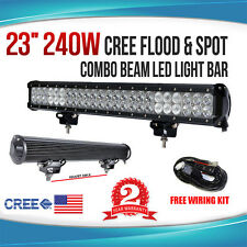 23INCH 240W CREE LED WORK LIGHT BAR FLOOD SPOT COMBO OFFROAD LAMP