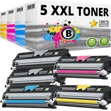 5 XXL Toner Pour Konica 1600 W 1650en 1680mf 1690mf avec puce Minolta Magicolor Set