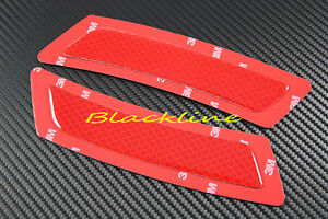 For 11~13 BMW F10 F11 5 Series Front Bumper 3M Red Reflector Side Marker 535i