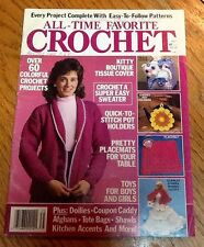 All-Time Favorite Crochet Magazine 1987 60+ Projects Afghans Coupon Caddy Barbie