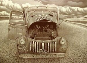 """Malcolm Childers """"First Lessons in Conversational Truck"""" Signed Numbered Etching"""