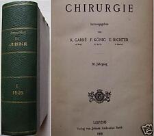 Raccolta 1° sem 1909 Fogli di Chirurgia rivista tedesca