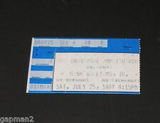 Hank Williams, Jr. July 1987 Universal Amphitheatre Concert Ticket Stub