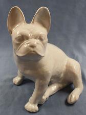 große französische Bulldogge Keramik hundefigur figur dogge lasierter ton