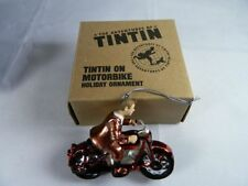 the Adventures of TinTin on a Motorbike Holiday Ornament Motorcycle New