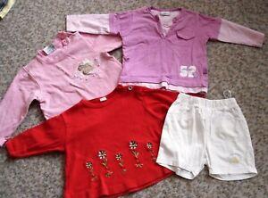 4-teil.Bekleidungspaket,3 Pullover/Shirt, 1 Shorts,Gr.74,Topolino,Baby Club,