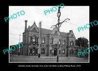 OLD POSTCARD SIZE PHOTO ADELAIDE SOUTH AUSTRALIA, THE CITY BATHS c1919