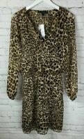 NWT WHITE HOUSE BLACK MARKET Womens' Leopard Print Dress Size 4 $150.00
