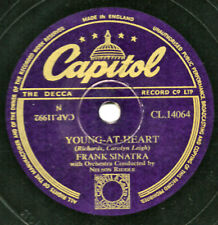 "CLASSIC FRANK SINATRA 78 "" YOUNG AT HEART /TAKE A CHANCE"" UK CAPITOL CL 14064 V+"