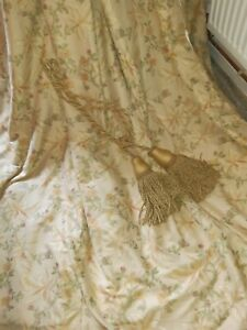 """Vintage Laura Ashley """"Worburn""""Pleated Interlined & Thermal Lined  Curtains"""