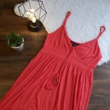Boston Proper Small Watermelon Braid Trim Dress Casual Coral