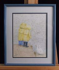 Rainy Day With Ducks and Children Print by Jane K Doyle Signed & Dated