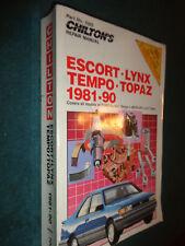 1981-1990 Ford Escort Tempo Mercury Lynx Topaz Shop Manual Chiltons Service Book
