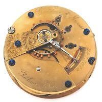 1888 ELGIN PRIVATE LABEL, GODDARD & MOSES 18S 15J MENS POCKET MOVEMENT.