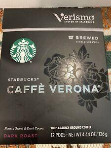 Starbucks Verismo Caffe Verona dark roast 12 Pods EXP 10/apr/2021