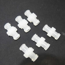 10Pcs 4mm Transparent polyprop Female to Female Coupler Syringe Connector