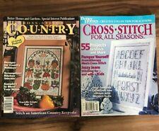 Lot of 2 - Better Homes &Gardens Cross Stitch Magazines