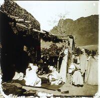 Casa Alla Campagna Algeria Foto Stereo PL58L Placca Lente Vintage