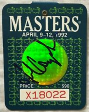 Fred Couples autographed signed auto 1992 Masters golf badge IN PERSON WITH COA