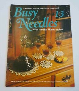 Vintage Needlework Magazine - Busy Needle - Vol.13 - 1980s, Crochet, Weaving