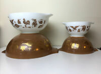 Pyrex Early American Cinderella Mixing Bowl Complete Set of 4 Vintage