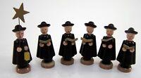 Kurrende Kurrendefiguren Gruppe Chor schwarz Figuren 6 Stück Holz   ca. 6,5 cm