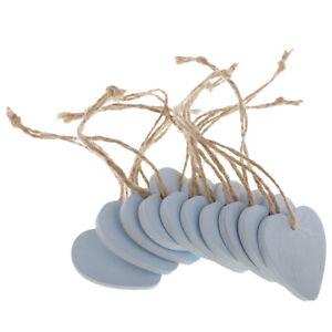 Plain Wooden Shapes Hearts Scrapbooking Embellishment DIY Card Wood Blue