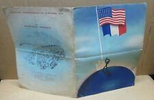 EXPOSITION INTERNATIONALE DE NEW YORK 1939 carte menu restaurant français