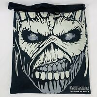 "Iron Maiden Logo The Book of Souls Graphic Print Tote Bag Black 14"" x 15"""