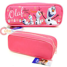 Disney Frozen Olaf Zippered Pencil Case Pouch Bag - Pink Canvas Accessory Bag