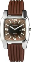 Excellanc Herrenuhr Braun Silber Analog Metall Silikon Armbanduhr X225727000008