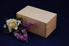 Plain Wooden Tea Box Two Compartments Perfect For Decoupage and other Crafts