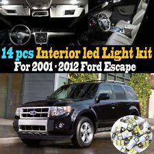 14Pc Super White Car Interior LED Light Kit Package for 2001-2012 Ford Escape