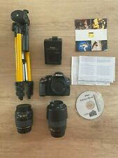 NIKON D3200 Digital SLR Cámara fotos Reflex + 18-55mm + 55-200mm VR + Trípode