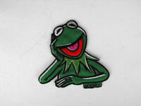 """10.5/"""" Muppets kermit the frog vintage fabric applique iron on character"""