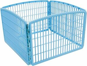 Pet Dog Playpen Cage Puppy Exercise Kennel Puppy Cat Play Portable Plastic Blue