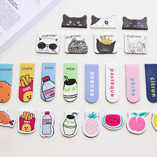 Cartoon Animals Foods Magnetic Bookmarks Note Memo Stationery Book Mark Bookworm