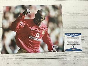 Dwight Yorke Signed 8x10 Photo Manchester United Beckett BAS COA Autographed c