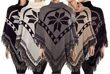 Hüftlange Damen-Pullover mit mittlerer Strickart und Norweger-Muster