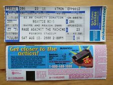 Unused Beastie Boys and Rage Against The Machine Aug 12 2000 Concert Tour Ticket