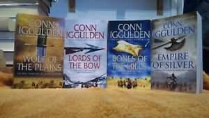 CONN IGGULDEN CONQUEROR 4 X PB,S VGC, WOLF OF THE PLAINS, LORDS OF THE BOW ETC