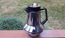 Vintage Dr Zimmermann Rido Busse Design Chrome Thermos Coffee Pot Carafe Germany