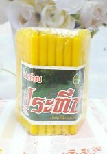 51 Sticks, 1 Pack Yellow Candles Illuminated Bee wax Worship Buddha