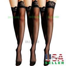3 Hosiery Women Stockings Socks Tights Nylon Hold Up Sheer Pantyhose Plus Size